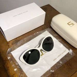 THE ROW x Linda Farrow Leather Cat Eye Sunglasses